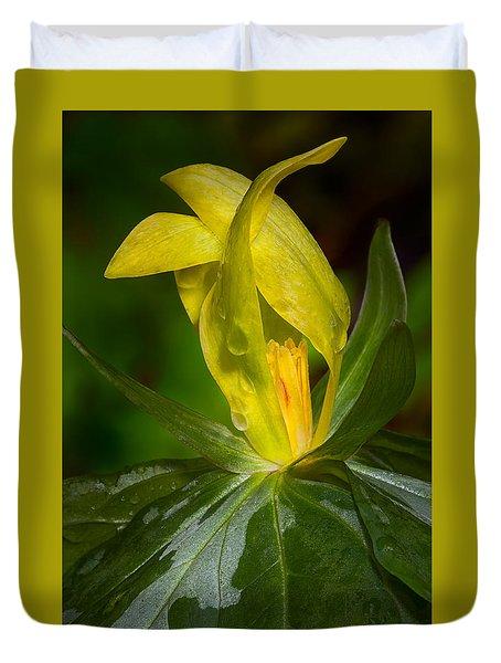 Yellow Trillium Duvet Cover