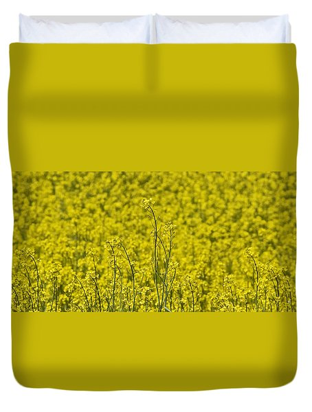 Duvet Cover featuring the photograph Yellow by Wanda Krack