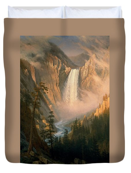 Yellowstone Falls Duvet Cover