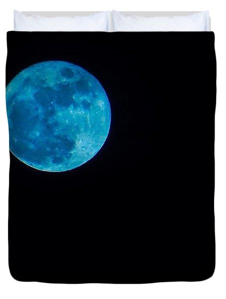 Yes, Once In A #bluemoon! Duvet Cover