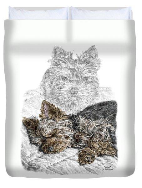 Yorkie - Yorkshire Terrier Dog Print Duvet Cover