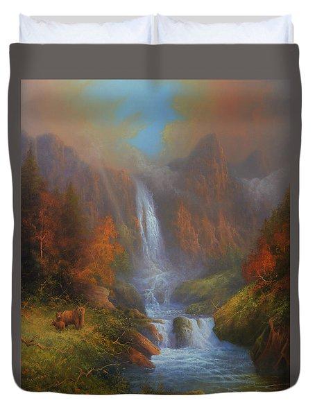Yosemite Bridal Veil Falls Duvet Cover by Joe Gilronan