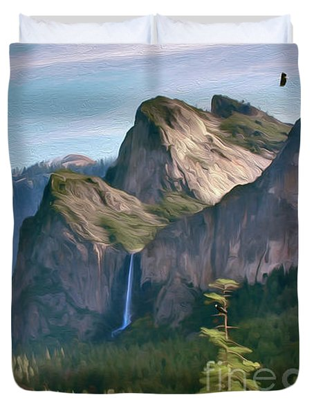 Yosemite Falls Duvet Cover