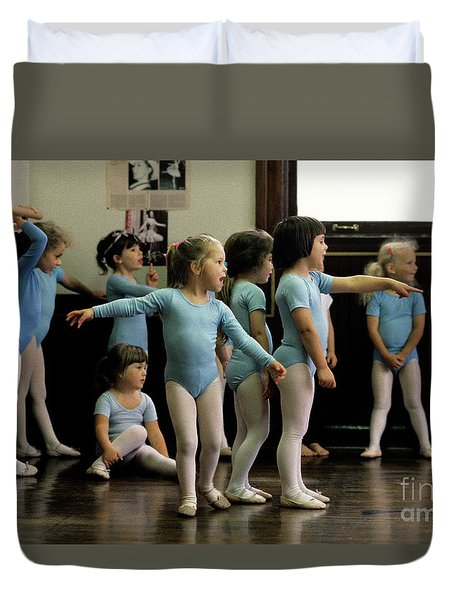 Young Ballet Dancers  Duvet Cover