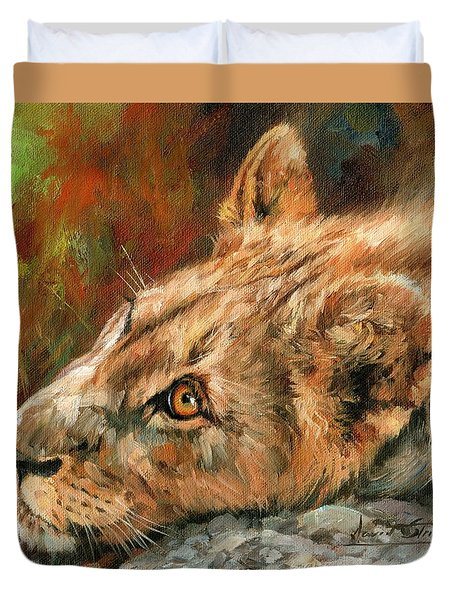 Young Lion Duvet Cover by David Stribbling