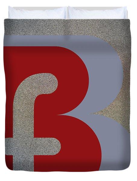 Your Name - B F Or F B Monogram Duvet Cover