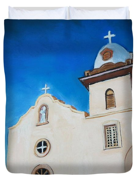 Ysleta Mission Duvet Cover