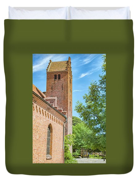 Duvet Cover featuring the photograph Ystad Monastery In Sweden by Antony McAulay