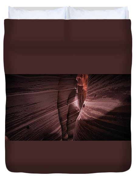 Duvet Cover featuring the photograph Zebra Canyon by Edgars Erglis