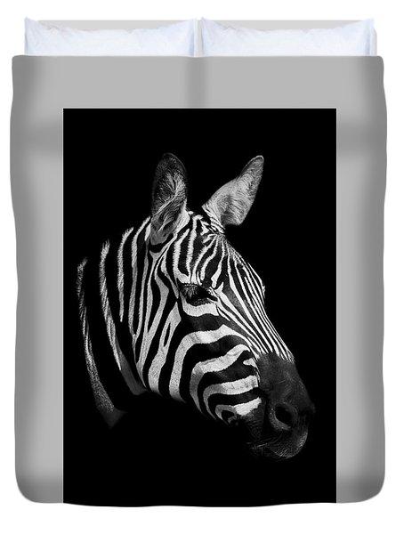Zebra Duvet Cover by Paul Neville
