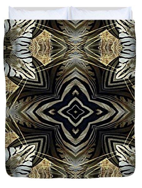 Zebra V Duvet Cover by Maria Watt
