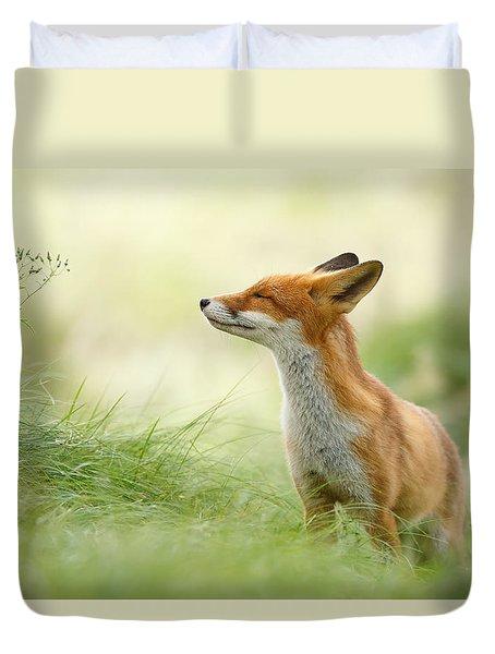 Zen Fox Series - Zen Fox Duvet Cover by Roeselien Raimond