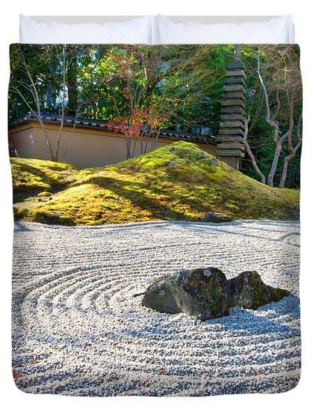 Zen Garden At A Sunny Morning Duvet Cover