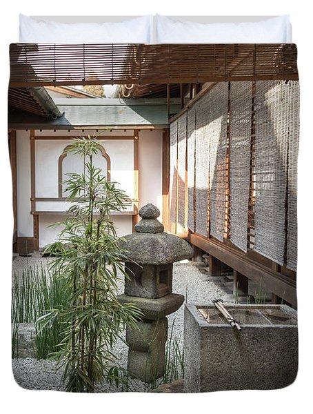 Zen Garden, Kyoto Japan Duvet Cover