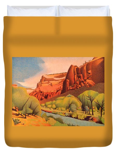 Zion Canyon Duvet Cover by Dan Miller