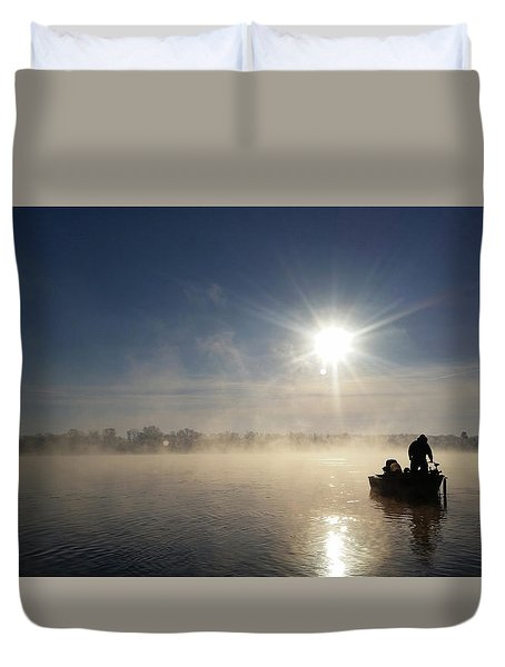 10 Below Zero Fishing Duvet Cover