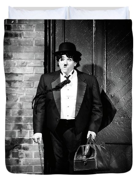 Charlie Chaplin Duvet Cover by Oleksiy Maksymenko