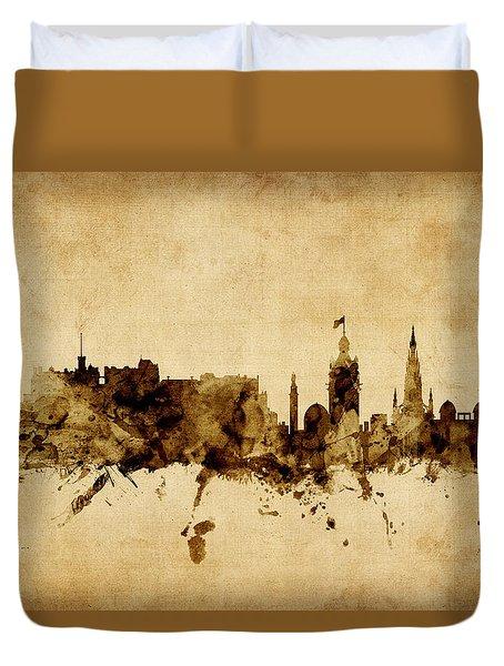 Edinburgh Scotland Skyline Duvet Cover