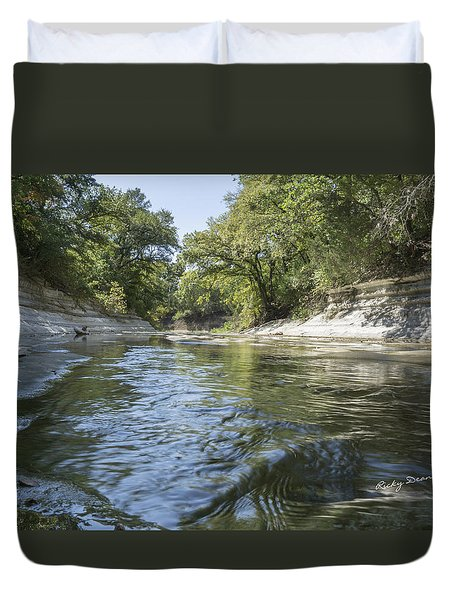 10 Mile Creek Duvet Cover by Ricky Dean