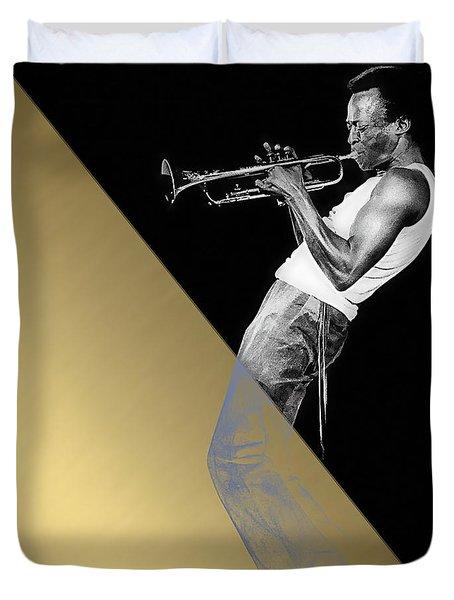 Miles Davis Collection Duvet Cover by Marvin Blaine