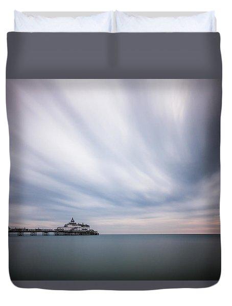 10 Minute Exposure Of Eastbourne Pier Duvet Cover