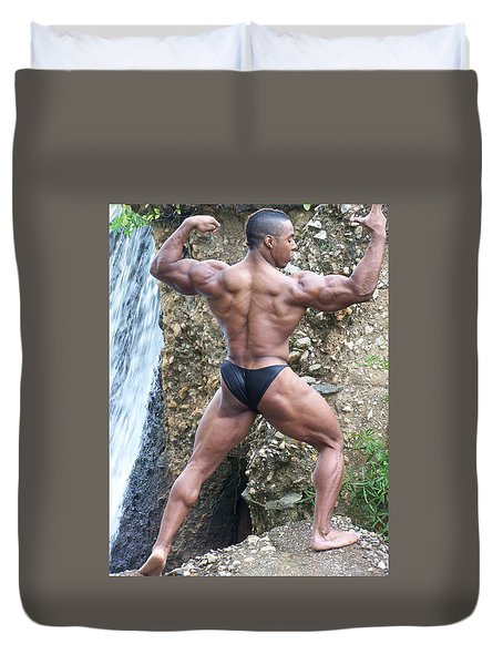 Duvet Cover featuring the photograph Muscle Art America by Jake Hartz