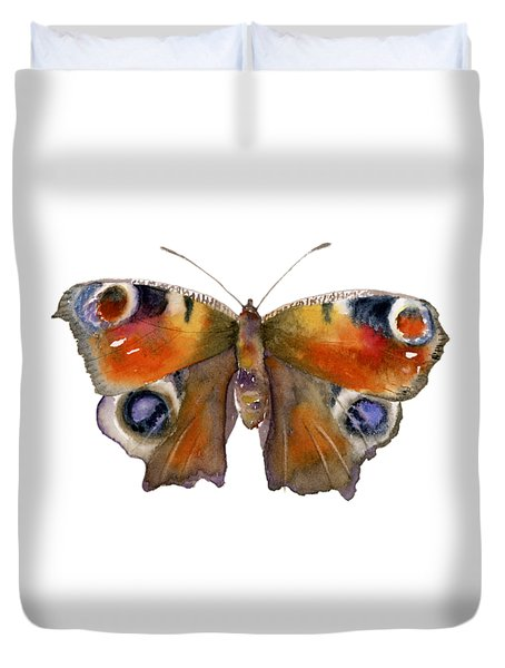 10 Peacock Butterfly Duvet Cover