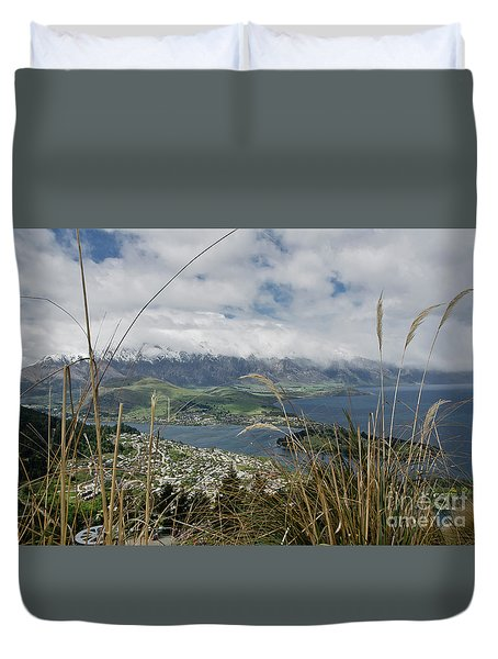 Queenstown New Zealand. Remarkable Ranges And Lake Wakatipu. Duvet Cover