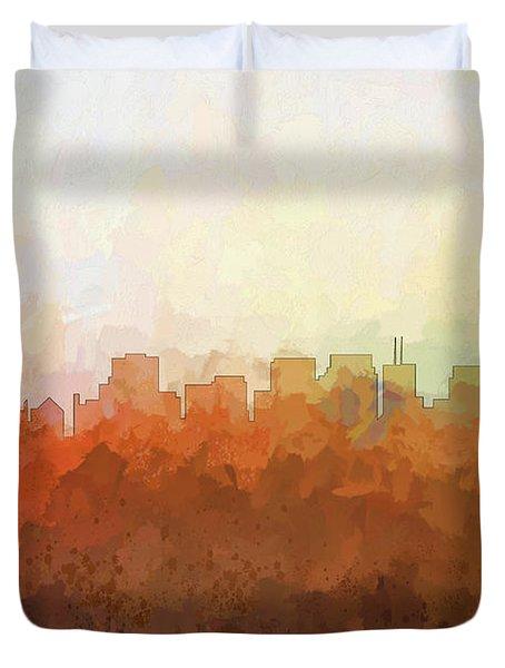 Duvet Cover featuring the digital art San Francisco California Skyline by Marlene Watson
