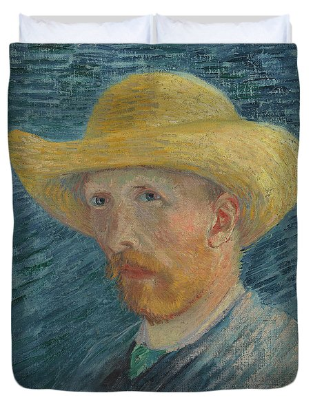 Self-portrait With Straw Hat Duvet Cover