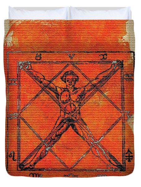 Symbols Of The Occult Duvet Cover