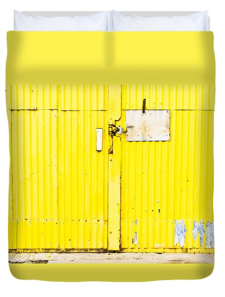 Yellow Metal  Duvet Cover