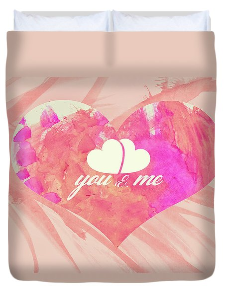 10183 You And Me Duvet Cover