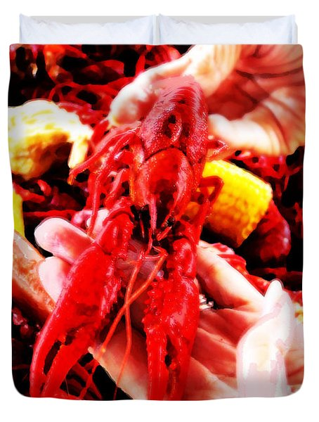 102715 Louisiana Lobster Duvet Cover