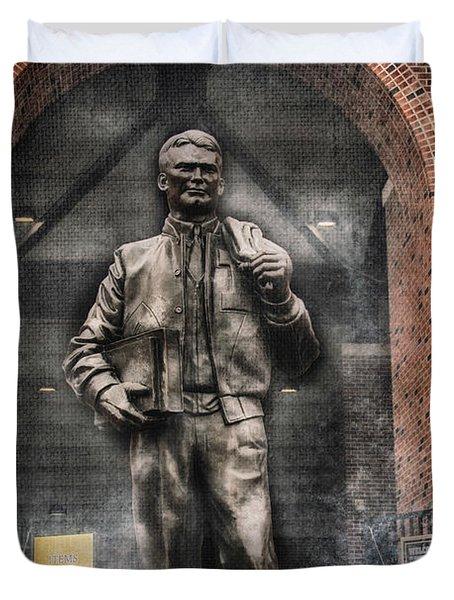 10726 Kinnick Statue Duvet Cover