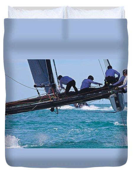 Key West Race Week Duvet Cover