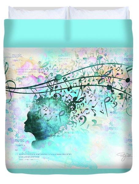 10846 Melodic Dreams Duvet Cover