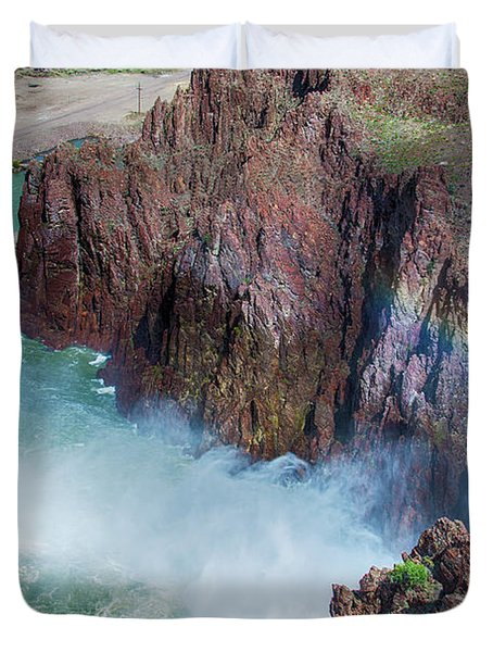 10883 Rainbow Over Owyhee Duvet Cover