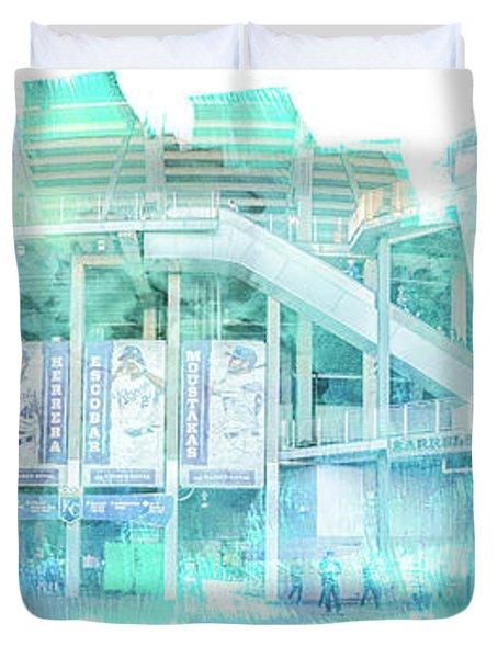 10928 Kauffman Stadium Gate D Duvet Cover