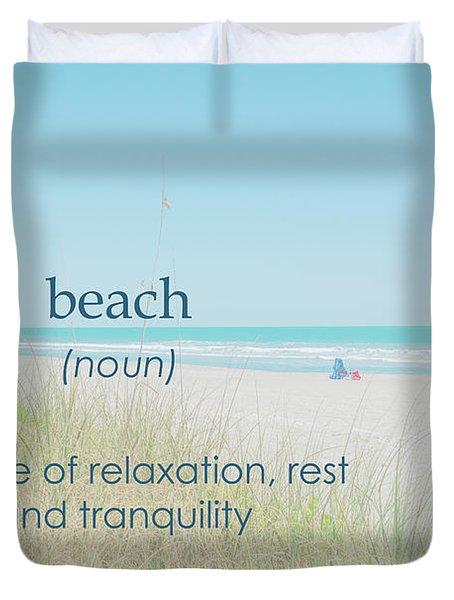 10967 Beach Tranquility Duvet Cover