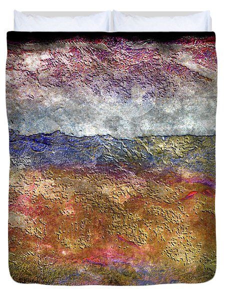 10c Abstract Expressionism Digital Painting Duvet Cover