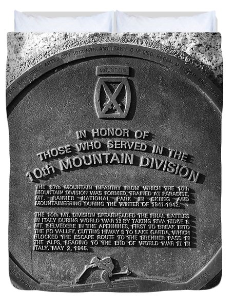 10th Mountain Division Duvet Cover by David Lee Thompson