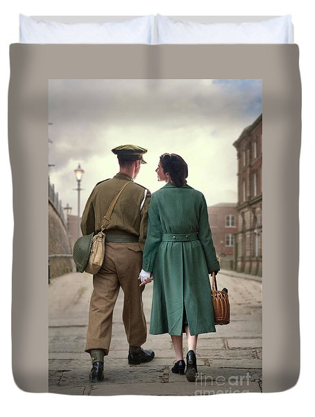 1940s Couple Duvet Cover