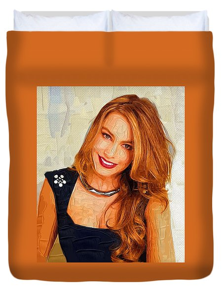 Actress Sofia Vergara  Duvet Cover by Best Actors