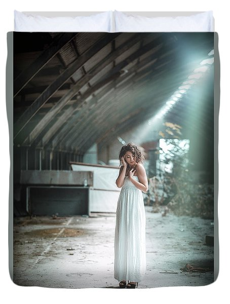 Duvet Cover featuring the photograph Giulia by Traven Milovich