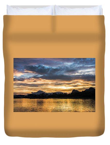 Sunrise Scenery In The Morning Duvet Cover