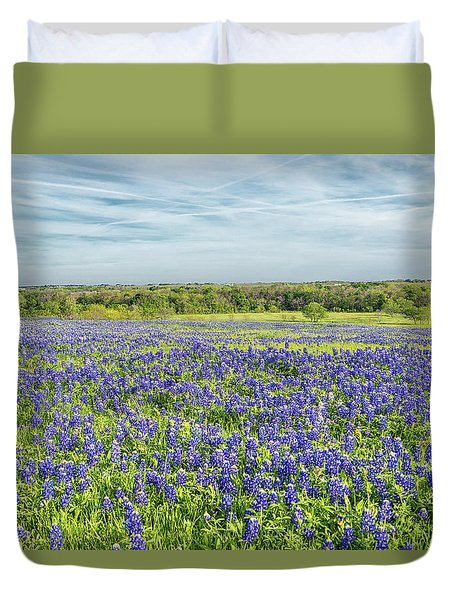 Texas Bluebonnets 11 Duvet Cover