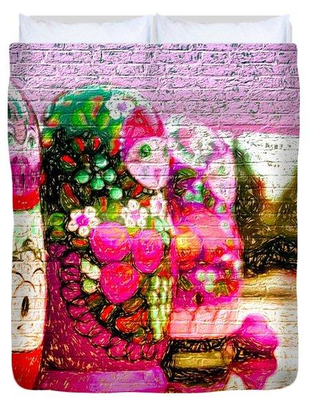 Russian Matrushka Dolls Wall Art Duvet Cover