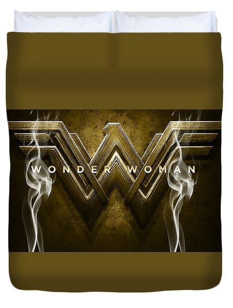 Wonder Woman Art Duvet Cover by Marvin Blaine