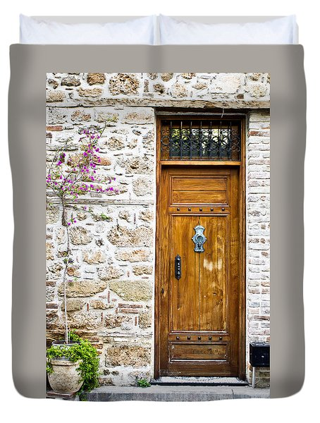 Wooden Door Duvet Cover
